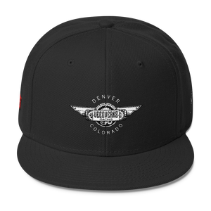 Black Veedverks Racing Carl Long #66 Snapback Cap, Front