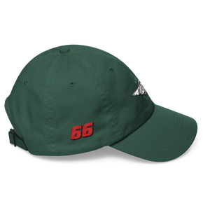 Spruce Green Veedverks Racing Carl Long #66 Classic Cap, Right Side Number 66