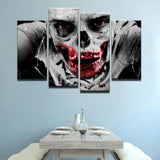 Zombie's World Canvas 4 Pcs Wall Art