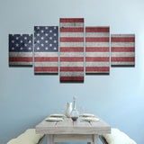 The American Flag Canvas Wall Art