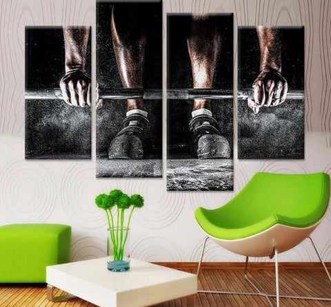 Hard Work Pays Off Canvas 4 Pcs Wall Art