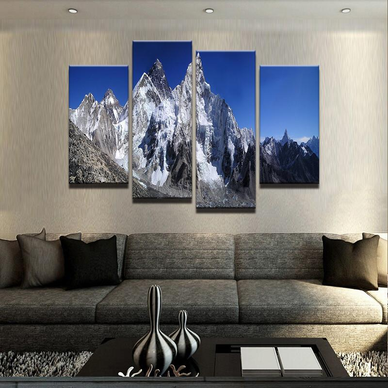 Mount Everest Canvas 4 Pcs Wall Art