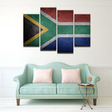 South Africa Flag 4 Pcs Canvas Wall Art