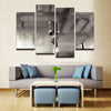 Jazz Microphone Canvas 4 Pcs Wall Art