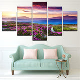 Sunrise On The Mountains Canvas 5 Pcs Wall Art