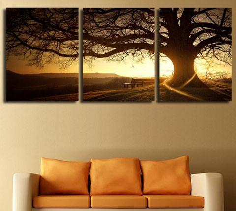 Big Old Tree Canvas 3 Pcs Wall Art