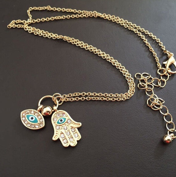 Hamsa Fatima Lovely Hand Necklace