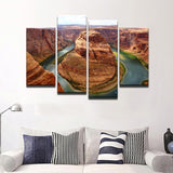 Grand Canyon 4 Pcs Canvas Wall Art