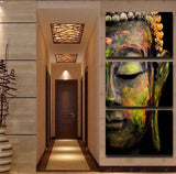 Artistic Buddha Canvas 3 Pcs Wall Art
