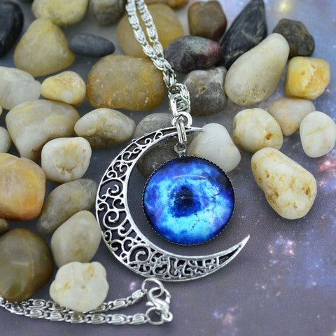 Blue Moon Chain Necklace