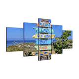 Beach Rules 5 Pcs Canvas Set