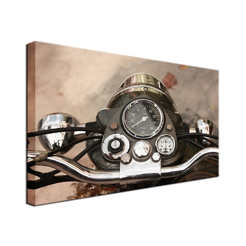 Classic Motorcycle Single Canvas