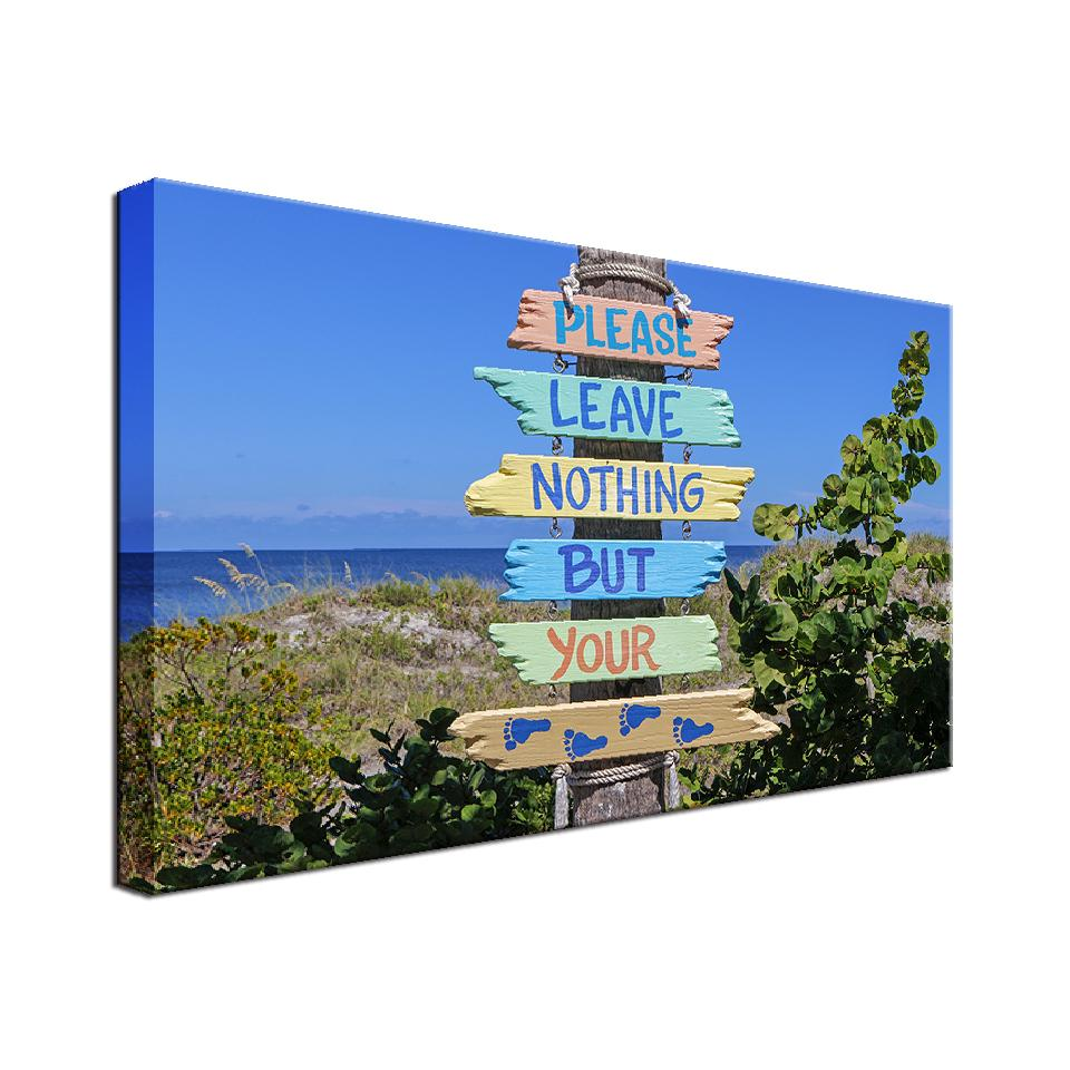 Beach Rules Single Canvas