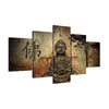 Modern Buddha Canvas 5 Pcs Wall Art