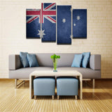 Australian Flag 4 Pcs Canvas Set