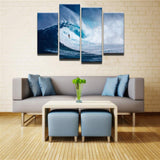 The Wave Canvas 4 Pcs Wall Art