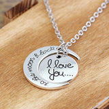 Special Family I Love You To The Moon and Back Pendant Necklace