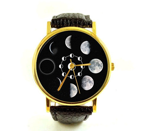 Unisex Analog Astronomy Moon Watch
