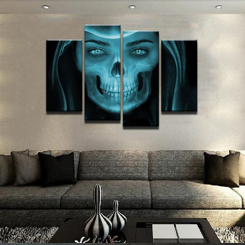 There Is A Zombie In Each One Of Us Canvas 4 Pcs Wall Art – ByBushwick