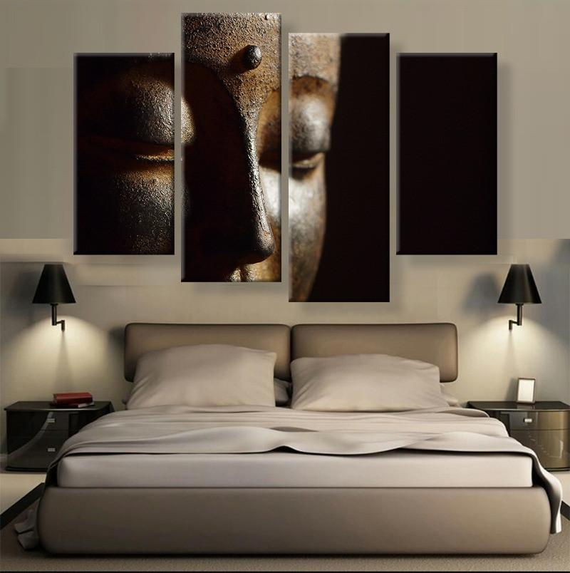 Buddha Canvas 4 Pcs Wall Art