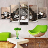 Classic Motorcycle 5 Pcs Wall Art Canvas