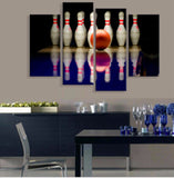 Bowling Canvas 4 Pcs Wall Art