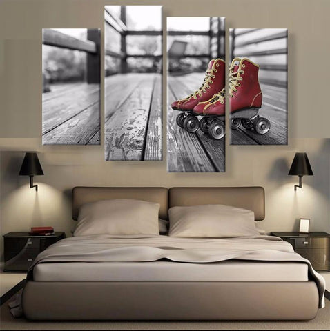Classic Skates Canvas 4 Pcs Wall Art