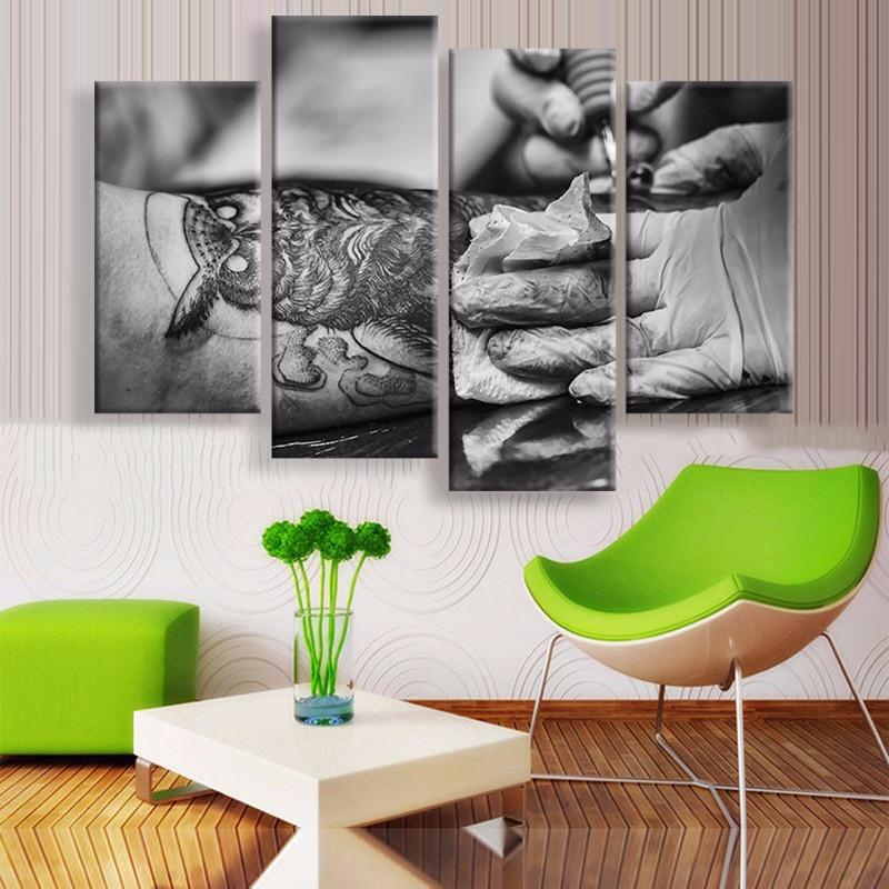 Tattoo Art Canvas 4 Pcs Wall Art