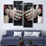 Tattoo Master Canvas 4 Pcs Wall Art