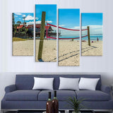 Beach Volleyball Canvas 4 Pcs Wall Art