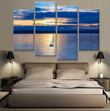 Sailing Canvas 4 Pcs Wall Art
