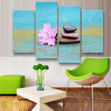 Zen Canvas 4 Pcs Wall Art