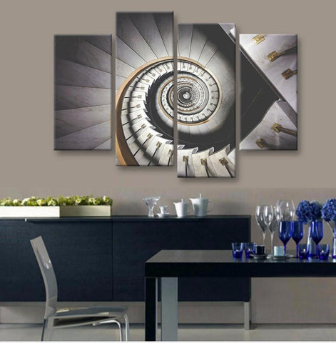 Architecture Staircase  4 Pcs Canvas Set