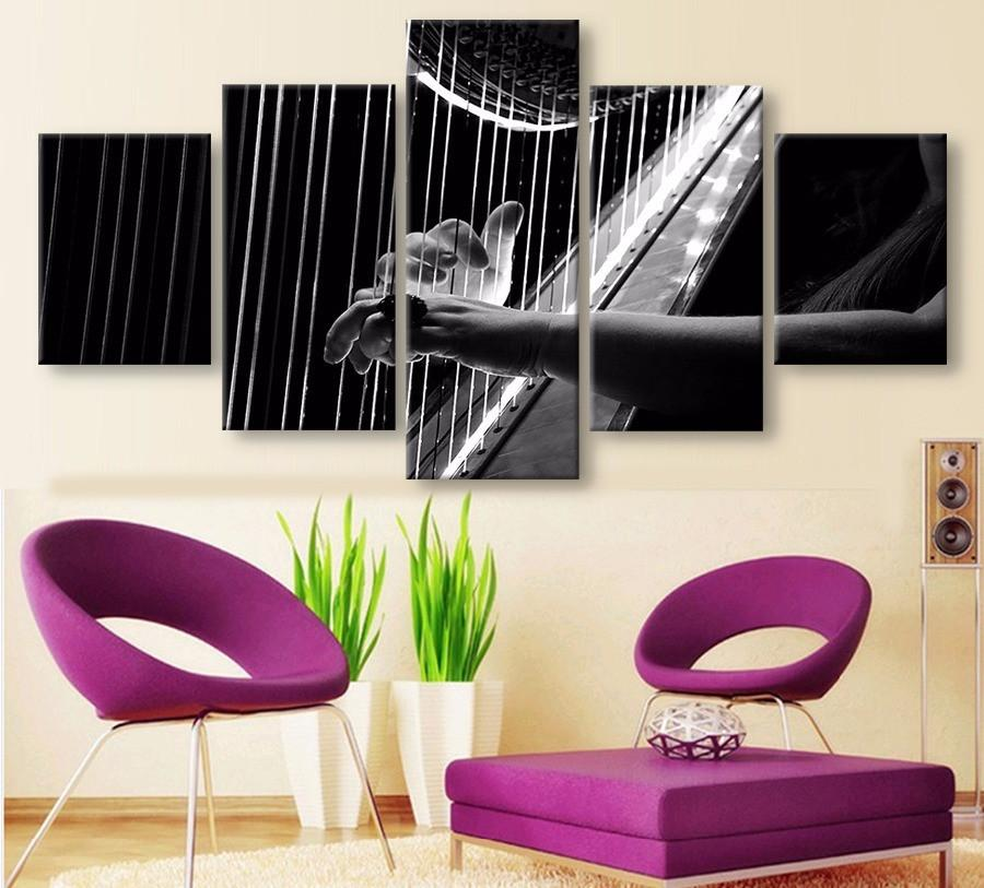 Harp Canvas 5 Pcs  Wall Art