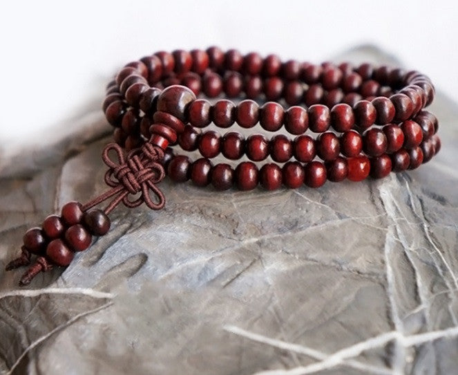 Brown Buddha Meditation Mala Bracelet