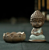 Ceramic Tea Pet Buddha lotus Incense burner