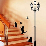 Light And Cat Removable Wall Sticker