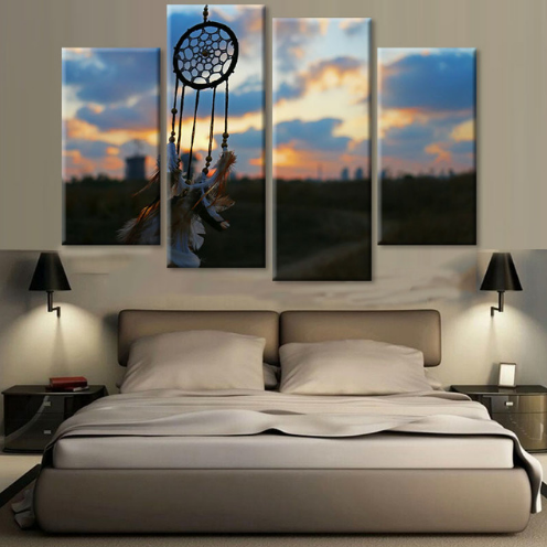 Dreamcatcher Canvas 4 Pcs Wall Art