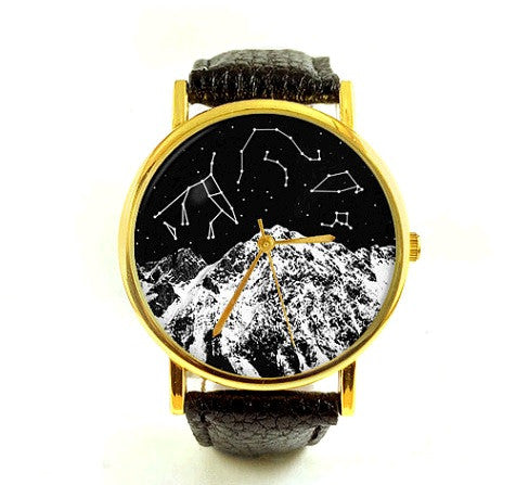 Unisex Astronomy Mountain Watch