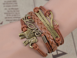 Multilayer Bracelets & bangles Infinity Elephant Love