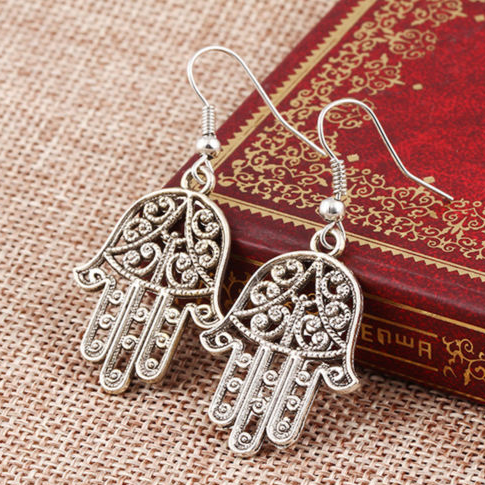 Hamsa Dangle Drop Earring