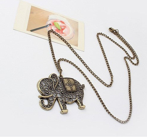 Handmade Magnificent Elephant Necklace