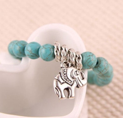 Elephant Beautiful Turquoise Bracelet