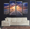 Sea Bridge Pier On Canvas 4 Pcs Wall Art