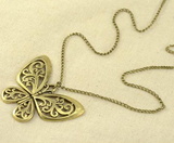 Beautiful Carved Butterfly Necklace