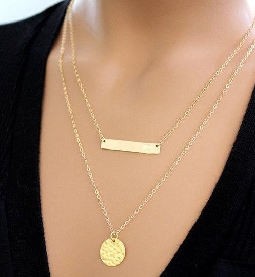 Gold Chain Choker Necklace