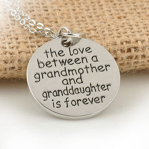 Touching Family Grandma & Granddaughter Necklace