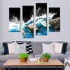 My Beautiful Blue Guitar Canvas 4 Pcs Wall Art