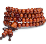 Orange Buddha Meditation Mala Bracelet