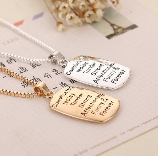 Touching Family Mother & Daughter Necklace